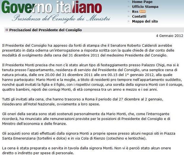 Cotechino e lenticchie al ristorante Mario Monti