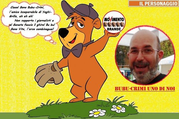 Vito Crimi è l'orso Bubu.