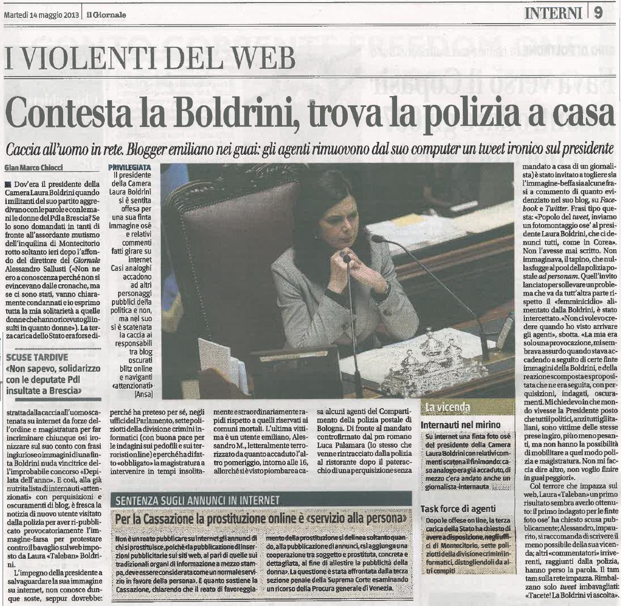 Il Giornale_14.05.2013_Alessandro M.