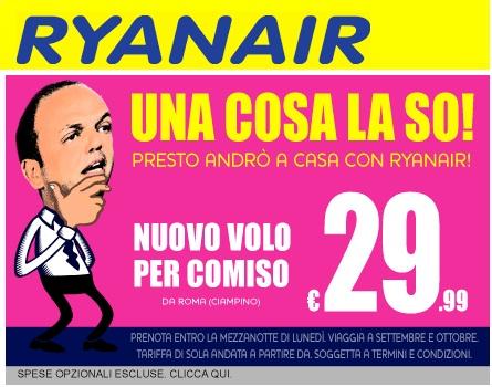 Ryanair, sempre un passo avanti.
