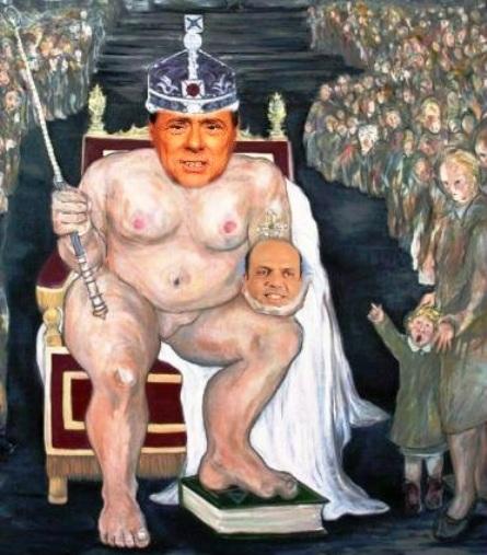 Silvio è nudo.
