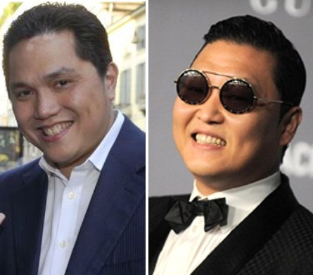 Erik Thohir è Park Jae-Sang (Gangnam Style).