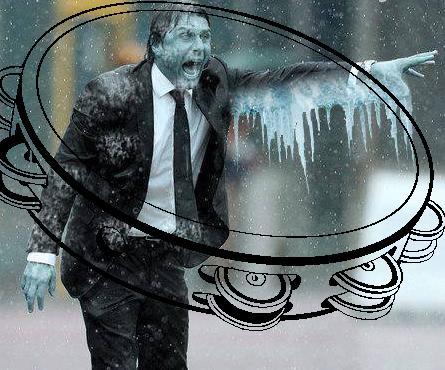 Conte si rifugia nel tamburello