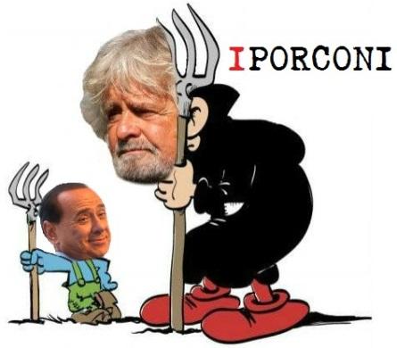 Silvio e Grillo, forconi di propaganda