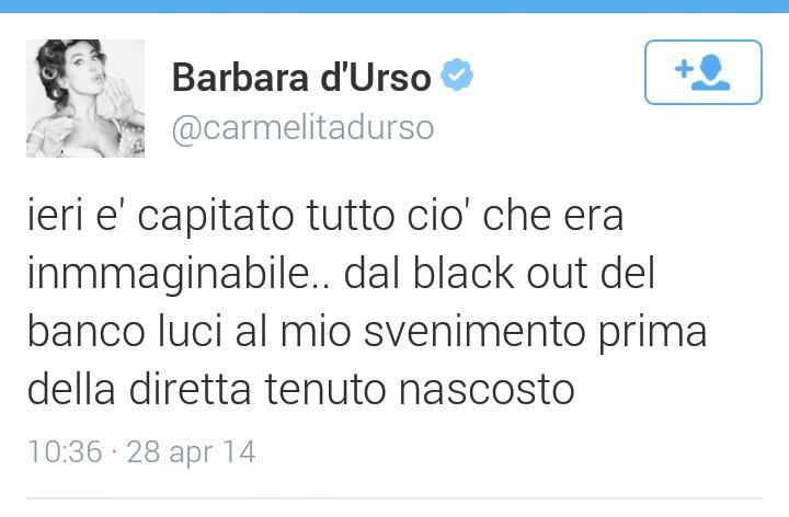 Barbara d'Urso on Twitter