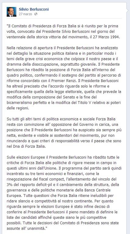 Berlusconi_comitato Presidenza vent'anni