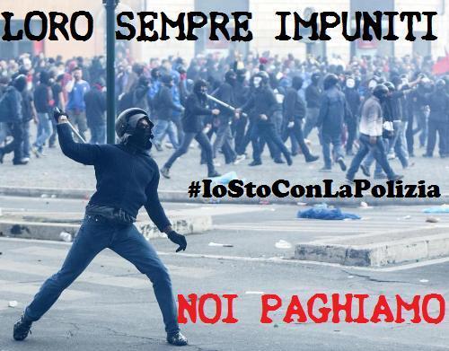 Roma scontri manifestazione casa