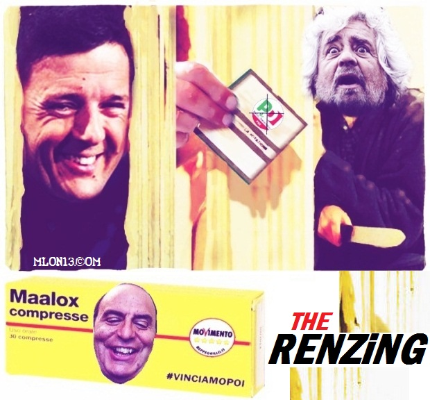 Renzi Shining. Grillo col Maalox. (#VinciamoPoi)