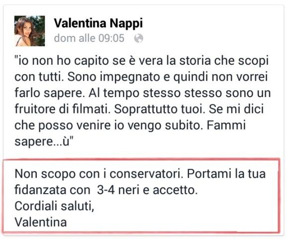 Valentina Nappi, l'ultima speranza italica