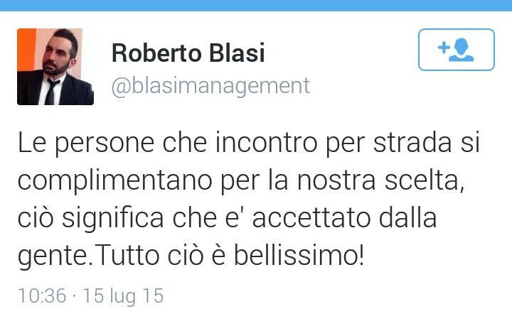 Il tweet di Roberto Blasi