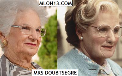 Liliana Segre è Mrs Doubtfire
